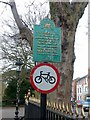 SK5903 : No cycling notices, New Walk, Leicester by Alan Murray-Rust