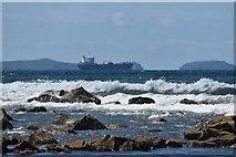 SM8519 : Rocky shore at Newgale Sands by Simon Mortimer