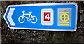 SS5698 : National Cycle Network Route 4 direction sign, Loughor by Jaggery