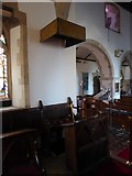 TQ7924 : St James the Great, Ewhurst Green: prayer desk by Basher Eyre