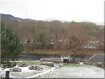 NN9357 : The River Tummel at Pitlochry by M J Richardson