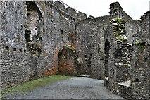 SX1061 : Restormel Castle: The Hall 1 by Michael Garlick