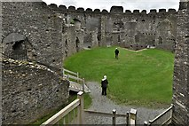 SX1061 : Restormel Castle: The Courtyard from the Gatehouse Wall-walk by Michael Garlick