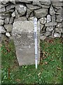 NX6970 : Old Milestone by the A713, Boreland of Parton, Parton Parish by Milestone Society
