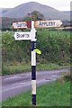 NY6822 : Old Direction Sign - Signpost by Milestone Society