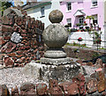 SX9173 : Old Wayside Cross, Cross House, Fore Street, Bishopsteignton Parish by Milestone Society