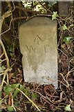 TQ5991 : Old Boundary Marker by Milestone Society