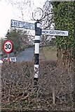 SD6279 : Old Direction Sign - Signpost by the A683, Collier's Lane, Casterton Parish by Milestone Society