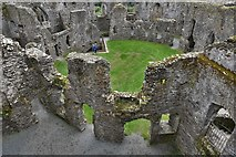 SX1061 : Restormel Castle: The Guardroom from the Wall-walk by Michael Garlick
