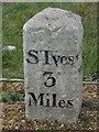 TL2967 : Old Milestone by the B1040, Potton Road, Hemingford Grey Parish by MW Hallett