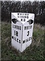 NZ9208 : Old Milepost by the A171, Hawsker Lane junction, north of High Hawsker by C Minto