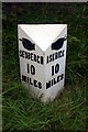 SD7992 : Old Milepost by the A684, Garsdale Head, Garsdale Parish by C Minto