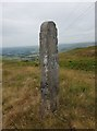 SD9617 : Old Waymarker Stone by the A58, Halifax Road, Rochdale Parish by Milestone Society