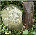 ST6350 : Old Boundary Markers by Three Tuns Farm, Coalpit Lane by M Bardell