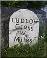 SO4579 : Old Milestone by the A49, Onibury by A Reade