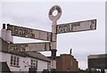 NY4754 : Old Direction Sign - Signpost by Milestone Society