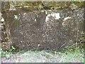 NY5790 : Old Bridge Marker by Coal Grain Bridge, Bloody Bush Road by Milestone Society