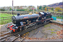 NY1700 : River Esk on the turntable at Dalegarth Railway Station by Jeff Buck