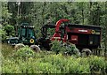TQ7820 : Timberjack 1210 forwarder with trailer, Brede High Woods by Patrick Roper
