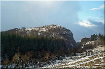 NH4660 : Approaching the defile of Raven Rock on the Dingwall to Garve rail line by Julian Paren