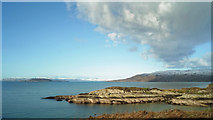 NG7631 : Coast near Portnacloich by Julian Paren