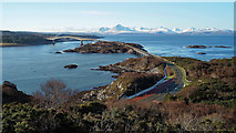 NG7527 : View to the west from The Plock of Kyle viewpoint by Julian Paren
