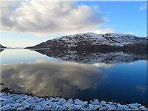 NG8835 : Loch Carron shoreline near Ardnarff by Julian Paren