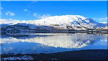 NG9043 : Glas Bheinn across Loch Carron by Julian Paren