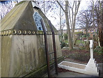 TQ2075 : The rear of the tomb of Sir Richard Burton by Marathon