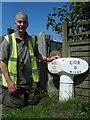 NT9738 : Old Milepost by J Howatt