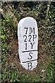 SX3258 : Old Boundary Marker by Milestone Society