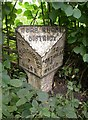 SO3830 : Old Milepost by the B4347, Dore, Dulas parish by C Minto