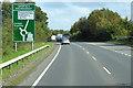 NX9475 : Eastbound A75 approaching Garroch Roundabout by David Dixon