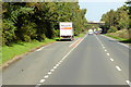 NX9576 : Layby on the A75 towards Dumfries by David Dixon