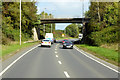NX9576 : Bridge over the eastbound A75 (Dumfries Bypass) by David Dixon