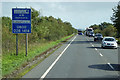 NX9877 : A75, Dumfries Bypass, to the northeast of Dumfries by David Dixon