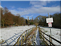 SE0941 : Path between horse paddocks by Stephen Craven