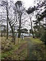 NY9276 : Back way into Barrasford Park Caravan Site by Oliver Dixon