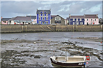 SN4562 : Aberaeron harbour and the Harbourmaster Hotel by Nigel Brown