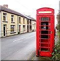 ST0796 : Red phonebox, Abercynon Road, Pontcynon by Jaggery