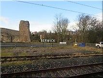 NT9953 : Entering Berwick-on-Tweed railway station by Stanley Howe