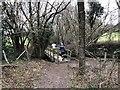 TQ6128 : Runners on the footbridge by Chris Thomas-Atkin