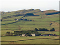 NY7267 : Farmland north of Hadrian's Wall and Cawfield Crags by Mike Quinn