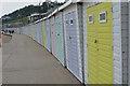 SY3391 : Bathing Huts below Marine Drive, Lyme Regis by Colin Cheesman