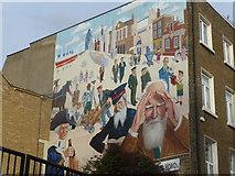 TQ3581 : Mural on Mile End Road by Marathon