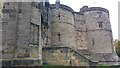 SD9951 : Drum towers and entrance to the Inner Ward, Skipton Castle by Phil Champion