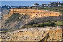 SZ2492 : Clifftop view west towards Barton on Sea by David Martin