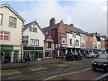 SJ0566 : Shops on the High Street, Denbigh by Eirian Evans