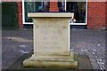 SO7875 : Statue of Stanley Baldwin (2) - inscription, Load Street, Bewdley, Worcs by P L Chadwick