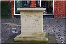 SO7875 : Statue of Stanley Baldwin (2) - inscription, Load Street, Bewdley, Worcs by P L Chadwick